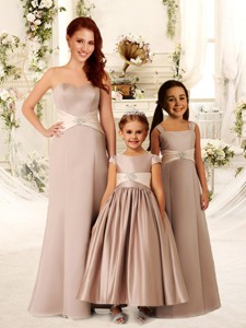 Luxurious Beaded and Sashed Bridesmaid Dress with Empire