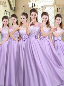 Hot Sale Empire Lavender Bridesmaid Dress