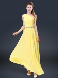 Pretty Floor Length Bridesmaid Dress With Belt