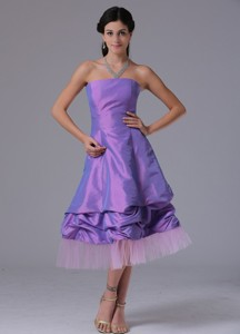 Lavender Strapless Prom Cocktail Dress With Tea-length In Bridgeport Connecticut