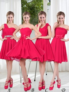 Romantic A Line Bowknot Bridesmaid Dress In Chiffon