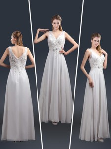 Affordable Empire V Neck Beading Mother Of The Bride Dress