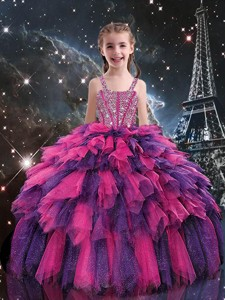Gorgeous Ball Gown Little Girl Pageant Dress With Beading