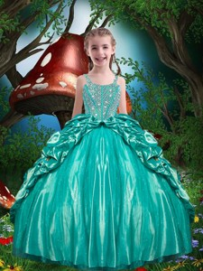 Pretty Straps Beading Little Girl Pageant Dress