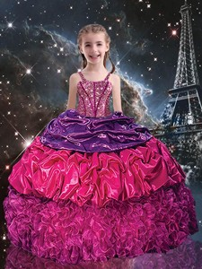 Gorgeous Ball Gown Straps Little Girl Pageant Dress