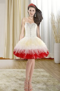 Spring Fashionable Beading Short Prom Dress With Sweetheart